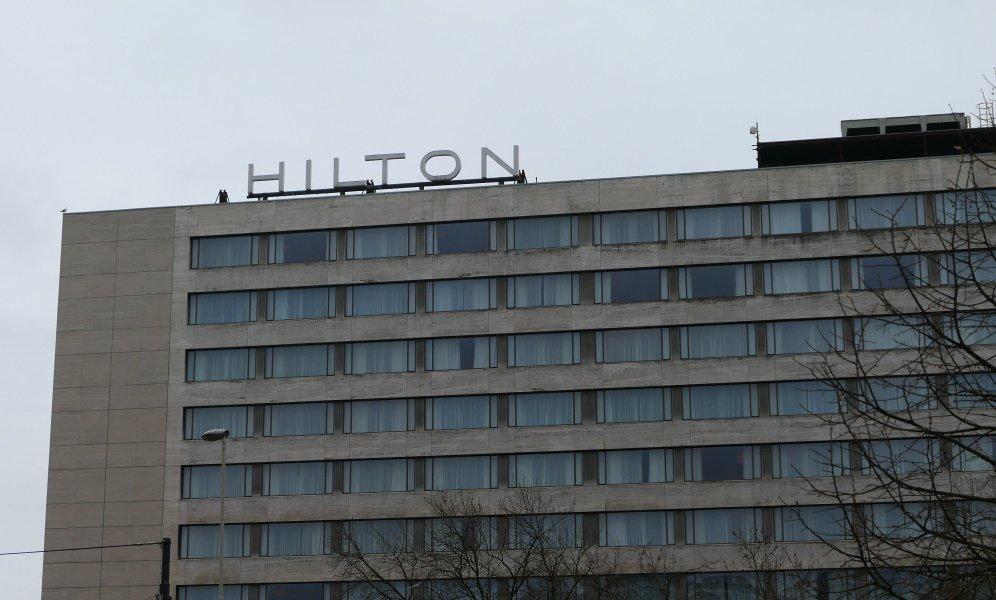 Voorzijde Hilton Hotel Rotterdam