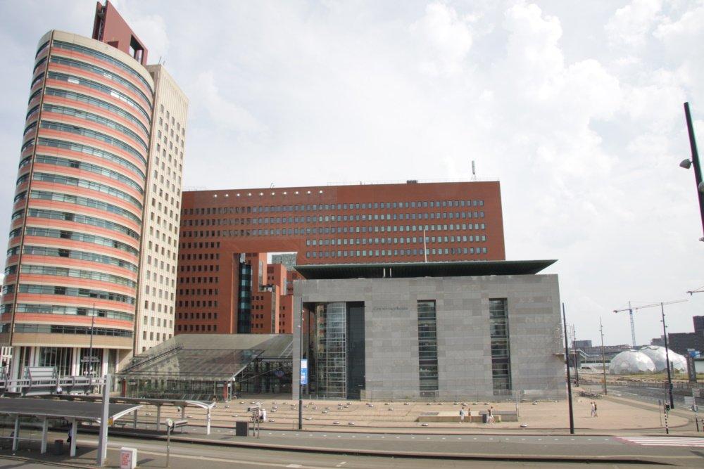 Gebouw van de Rechtbank in Rotterdam