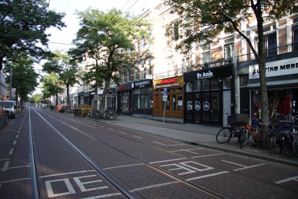 Een deel van de Nieuwe Binnenweg in Rotterdam