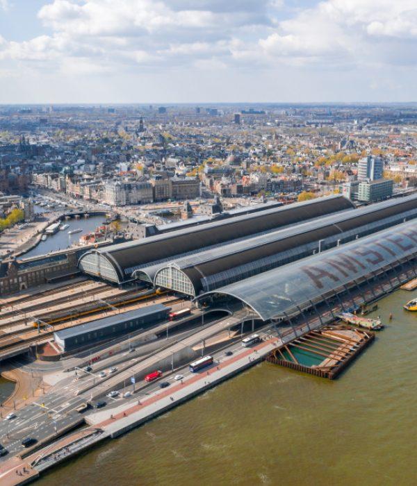 Rotterdam naar Amsterdam met de trein